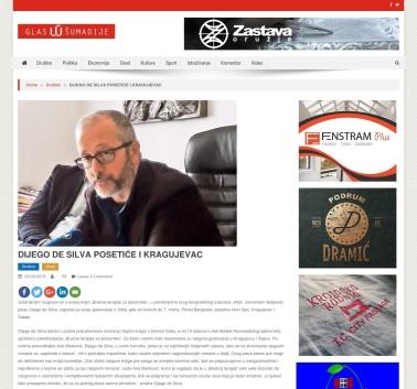 0503 - glassumadije.rs - DIJEGO DE SILVA POSETICE I KRAGUJEVAC