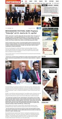 0703 - informer.rs - BEOGRADSKI FESTIVAL IGRE Poplava Emocija od 22. marta do 12. aprila