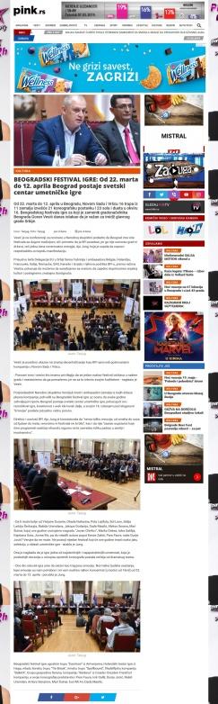 0703 - pink.rs - BEOGRADSKI FESTIVAL IGRE - Od 22. marta do 12. aprilaBeograd postaje svetski centar umetnicke igre