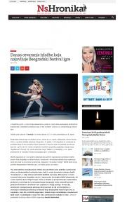 0803 - nshronika.rs - Danas otvaranje izlozbe koja najavljuje Beogradski festival igre
