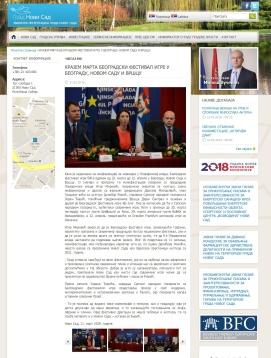1103 - novisad.rs - KRAJEM MARTA BEOGRADSKI FESTIVAL IGRE U BEOGRADU, NOVOM SADU I VRSCU