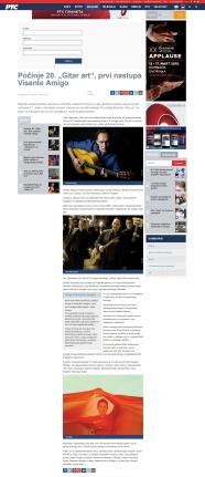 1103 - rts.rs - Pocinje 20. Gitar art, prvi nastupa Visente Amigo