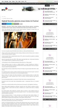 1203 - rtv.rs - Najbolji flamenko gitarista otvara Guitar Art Festival