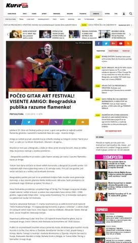1303 - kurir.rs - POCEO GITAR ART FESTIVAL VISENTE AMIGO