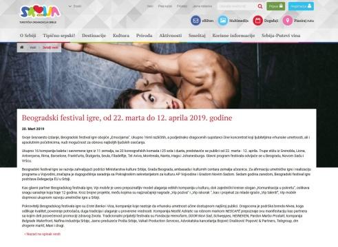 2003 - serbia.travel - Beogradski festival igre, od 22. marta do 12. aprila 2019. godine