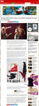 2103 - blic.rs - Beogradski festival igre ove godine okuplja 16 trupa iz 11 zemalja