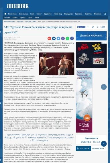 2503 - dnevnik.rs - BFI- Trupa iz Rima i Rosinijeve uvertire veceras na sceni
