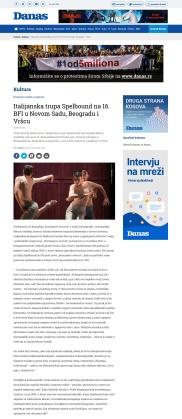 2703 - danas.rs - Italijanska trupa Spelbound na 16. BFI u Novom Sadu, Beogradu i Vrscu