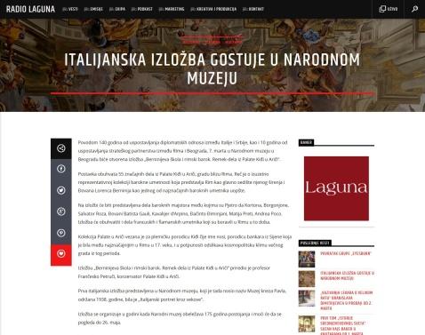 0103 - radiolaguna.rs - Italijanska izlozba gostuje u Narodnom muzeju