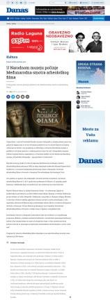 0204 - danas.rs - U Narodnom muzeju pocinje Medjunarodna smotra arheoloskog filma
