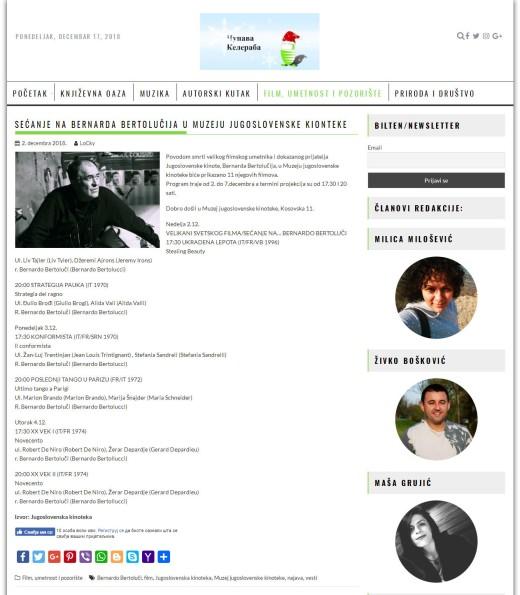 0212 - cupavakeleraba.com - Secanje na Bernarda Bertolucija u Muzeju jugoslovenske kionteke