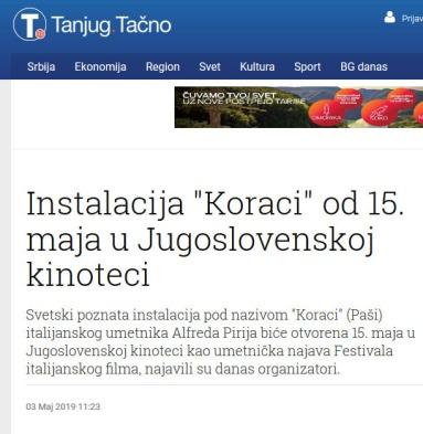 0305 - tanjug.rs - Instalacija Koraci od 15. maja u Jugoslovenskoj kinoteci