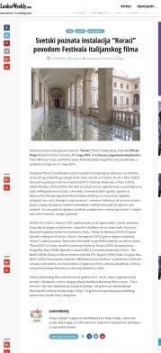 0405 - lookerweekly.com - Svetski poznata instalacija Koraci povodom Festivala italijanskog filma