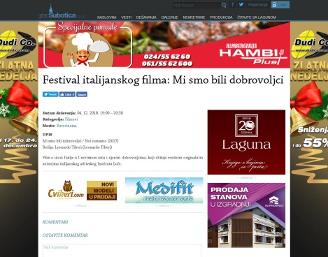 0412 - gradsubotica.co.rs - Festival italijanskog filma- Mi smo bili dobrovoljci