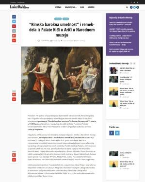 0503 - lookerweekly.com - Rimska barokna umetnost i remek-dela iz Palate Kidji u Arici u Narodnom muzeju
