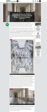 0605 - citymagazine.rs - Poznata instalacija Koraci, italijanskog umetnika Alfreda Pirija, u Jugoslovenskoj kinoteci