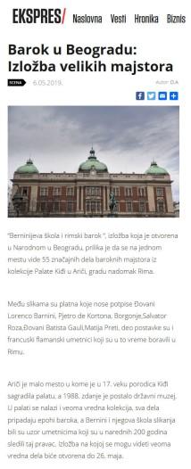 0605 - ekspres.net - Barok u Beogradu- Izlozba velikih majstora