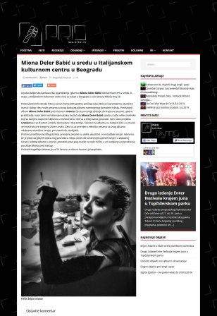 0605 - pris.rs - Miona Deler Babic u sredu u Italijanskom kulturnom centru u Beogradu