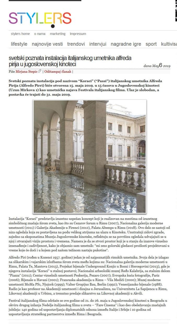 0605 - style.rs - Svetski poznata instalacija italijanskog umetnika Alfreda Pirija u Jugoslovenskoj kinoteci