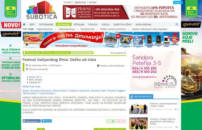0612 - subotica.com - Festival italijanskog filma- Decko od zlata