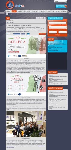 0804 - radiocity.rs - Promocija italijanske kulture u Nisu