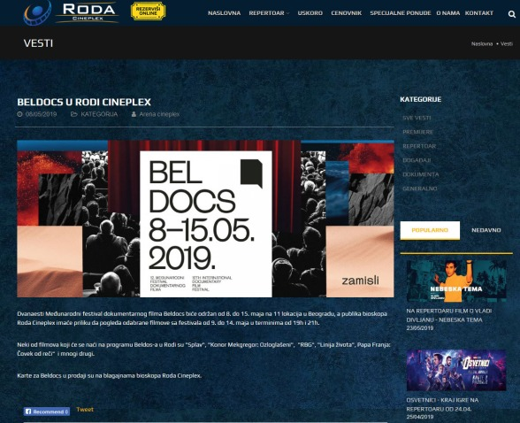 0805 - rodacineplex.com - Vesti Beldocs u rodi cineplex