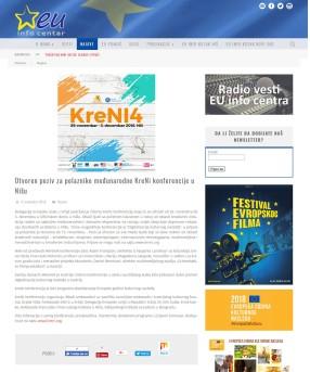 0811 - euinfo.rs - Otvoren poziv za polaznike medjunarodne KreNi konferencije u Nisu