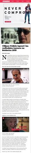0905 - dominomagazin.rs - Vilijam Fridkin ispred i iza rediteljske kamere na Beldocsu 2019