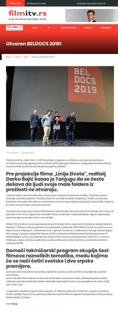 0905 - filmitv.rs - Otvoren BELDOCS 2019!