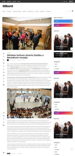 1003 - bilbord.rs - Ministar kulture otvorio izlozbu u Narodnom muzeju