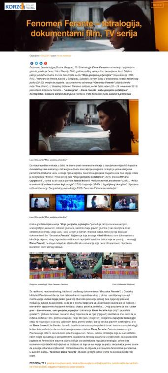 1212 - korzoportal.com - Fenomen Ferante - tetralogija, dokumentarni film, TV serija