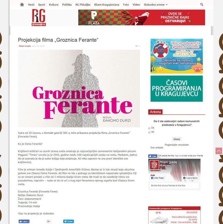 1212 - ritamgrada.rs - Projekcija filma Groznica Ferante
