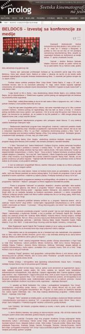 1704 - prolog.rs - BELDOCS - Izvestaj sa konferencije za medije