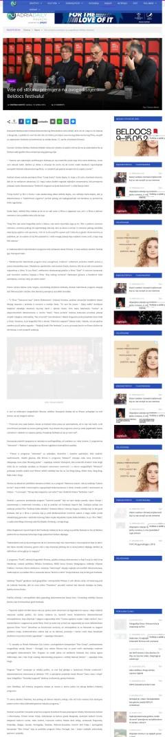 1804 - adriadaily.com - Vise od stotinu premijera na ovogodisnjem Beldocs festivalu
