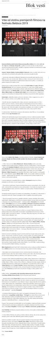 1804 - blok-vesti.com - Vise od stotinu premijernih filmova na festivalu Beldocs