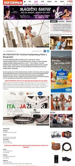 2005 - informer.rs - NE PROPUSTITE Festival italijanskog filma u Beogradu