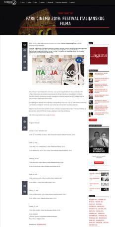 2005 - radiolaguna.rs - Fare Cinema 2019- Festival italijanskog filma
