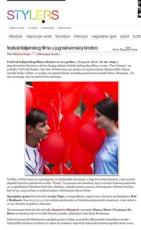 2005 - style.rs - Festival italijanskog filma u Jugoslovenskoj Kinoteci