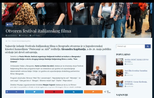 2205 - gle.co.rs - Otvoren festival italijanskog filma