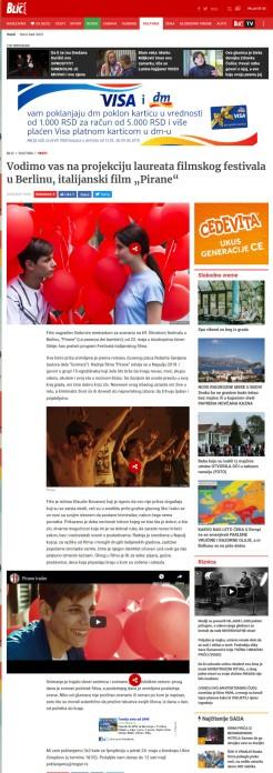 2305 - blic.rs - Vodimo vas na projekciju laureata filmskog festivala u Berlinu, italijanski film Pirane