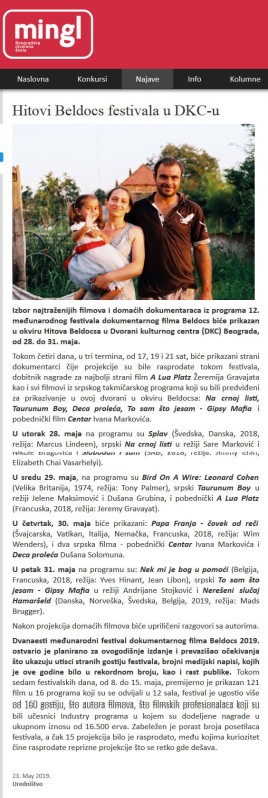 2305 - mingl.rs - Hitovi Beldocs festivala u DKC-u