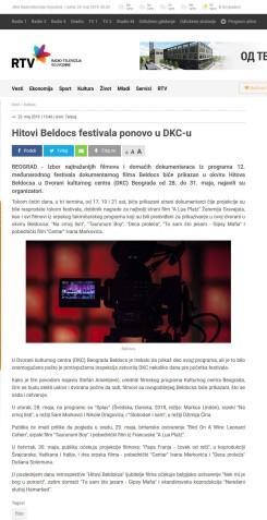 2305 - rtv.rs - Hitovi Beldocs festivala ponovo u DKC-u