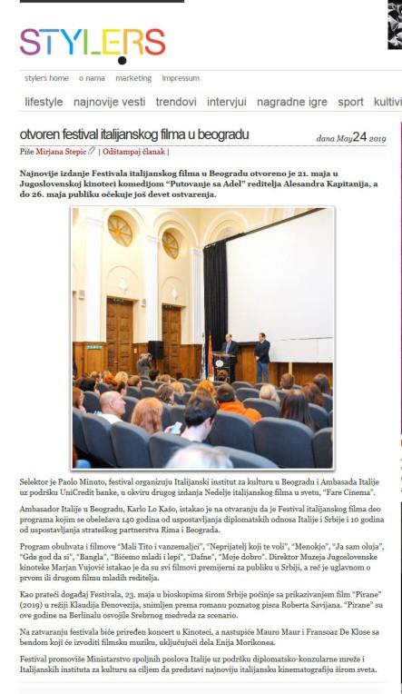 2405 - style.rs - Otvoren Festival italijanskog filma u Beogradu