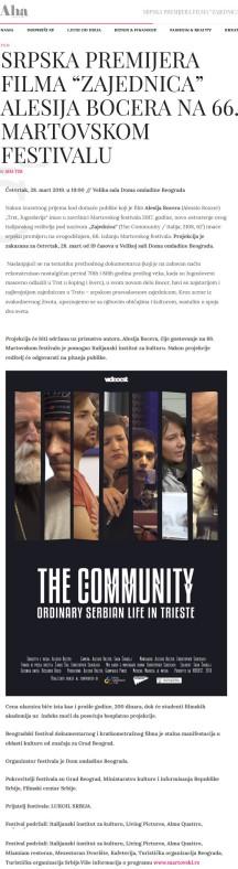 2603 - ahamagazin.rs - SRPSKA PREMIJERA FILMA ZAJEDNICA ALESIJA BOCERA NA 66. MARTOVSKOM FESTIVALU