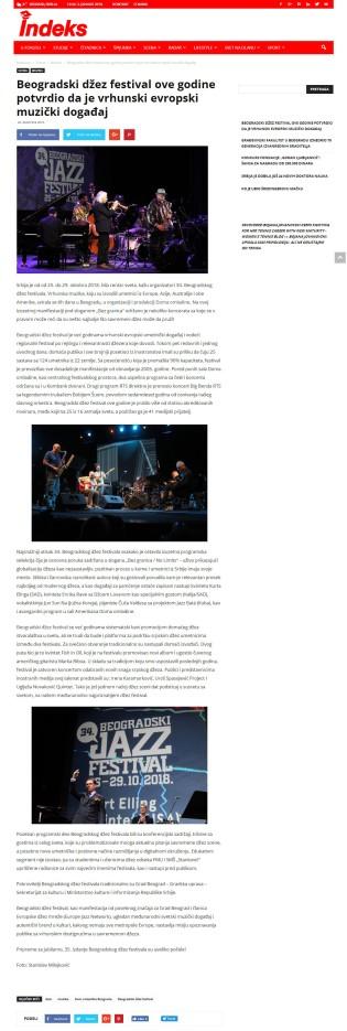 2612 - indeks.rs - Beogradski dzez festival ove godine potvrdio da je vrhunski evropski muzicki dogadjaj
