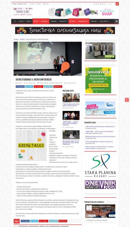 2811 - magazinsana.rs - Sutra otvaranje 4. KreNI konferencije