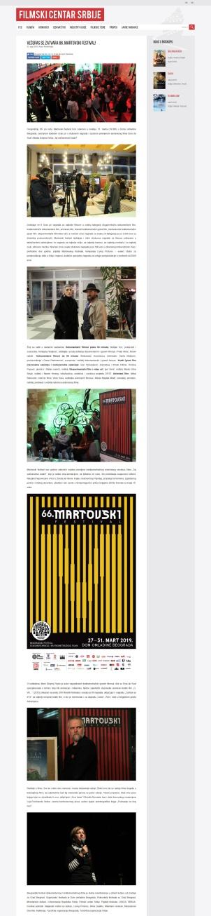 3103 - fcs.rs - Veceras se zatvara 66. Martovski festival