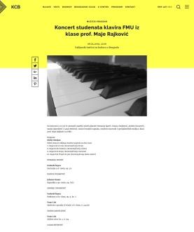 0204 - kcb.org.rs - Koncert studenata klavira FMU iz klase prof. Maje Rajkovic