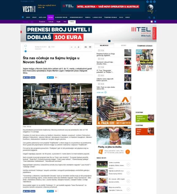 0303 - vesti-online.com - Sta nas ocekuje na Sajmu knjiga u Novom Sadu