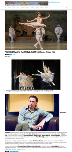0306 - balkanekspresrb.rs - PREMIJERA BALETA LABUDOVO JEZERO - Virtuozna Tatjana Tatic